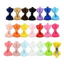 ¡Lo último en 20 uds/lote! pinzas de seguridad para el cabello con lazo pequeño y pequeño, pinzas de seguridad lisas para el cabello para niños 659
