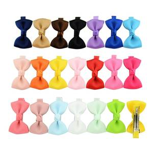 YHXX YLEN 20 Pcs/lot Small Bow Hair Clips Kids Hairpins