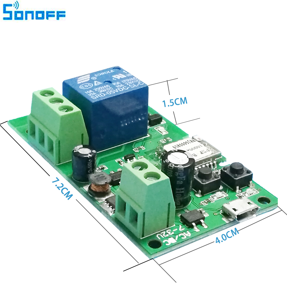 Sonoff Dc5v 12v 24v 32v Wifi Switch Wireless Relay Module Smart Home Circuit Automation For Access Control Systemr Inching Self Locking In Modules