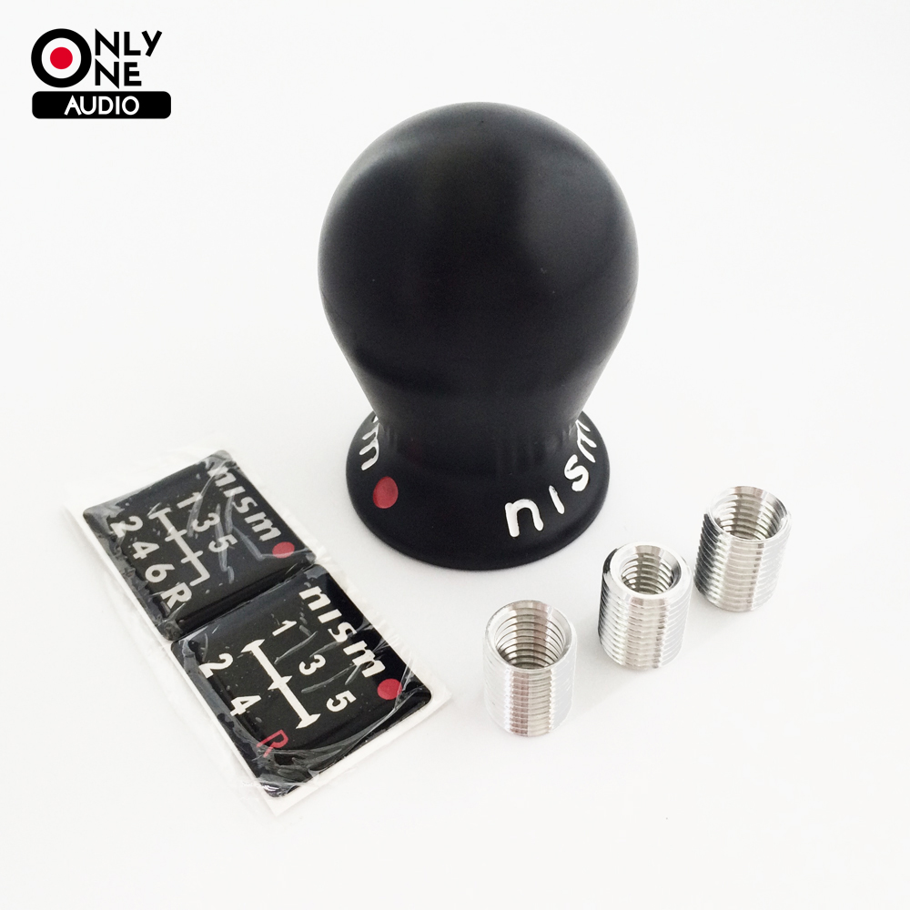 Prix pour SEULEMENT UN AUDIO Nismo Universelle 5/6 Vitesse Automatique Pommeau Noir/Blanc Voiture Manuel Transmission (MT) pour NISSAN
