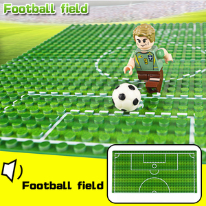 Image 3 - 32*16 Football Basketball Base Plate Compatible Legoe Figures Court Baseplate DIY Building Blocks Bricks Toys For Children Gifts