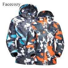 Facecozy Men Women Spring Outdoor Hiking Jacket Softshell Ca