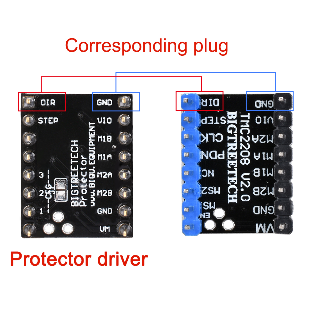 1pc Silent Step Stick Protector Stepper Motor Drives Plug-type Silent Stepper For 3D Printer Parts Driver TMC2130 V1.1/TMC2208