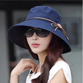 Fashion sun hats UV Foldable bucket Butterfly knot wide brim Floppy Summer hats for women Beach Cap Headwear