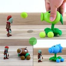 النباتات مقابل الكسالى Peashooter البلاستيكية عمل نموذج لجسم لعبة الهدايا لعب للأطفال جودة عالية في كيس مقابل