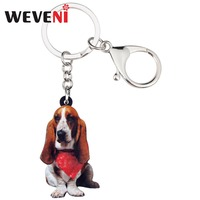 weveni-acrylic-sitting-scarf-basset-hound-dog-key-chains-keychain-rings-animal-jewelry-for-women-girls-holder-wallet-charms-gift