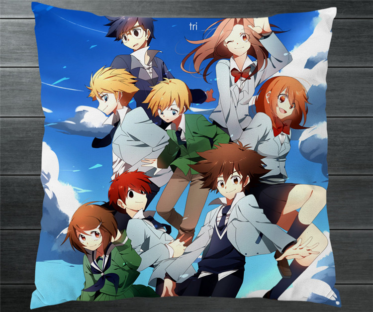 Digimon Adventure Tri Digital Monster Two Side 40x40cm Pillowcase Pillow Case Cover Cosplay Manga Gift BED/SOFA/CAR Decor P14