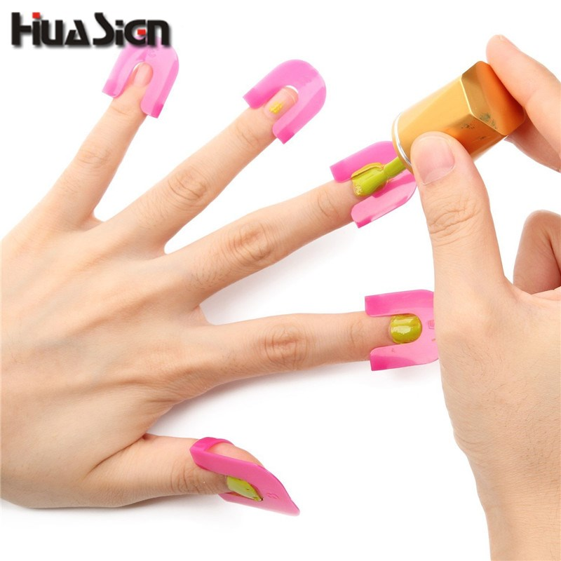26PCS/Set Manicure Finger Nail Polish Shield Protector ...
