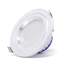 Tricolor Changeable LED Down Light 220V dimmable Downlight Waterproof Recessed Ceiling AC220V 7W Ultra Thin