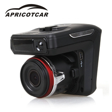 "Buy online APRICOTCAR Built-in GPS Logger Alarm System Digital Video Recorder 2.4"" 2 In 1 Car DVR Camera Anti Radar Detector Laser HD 720P"