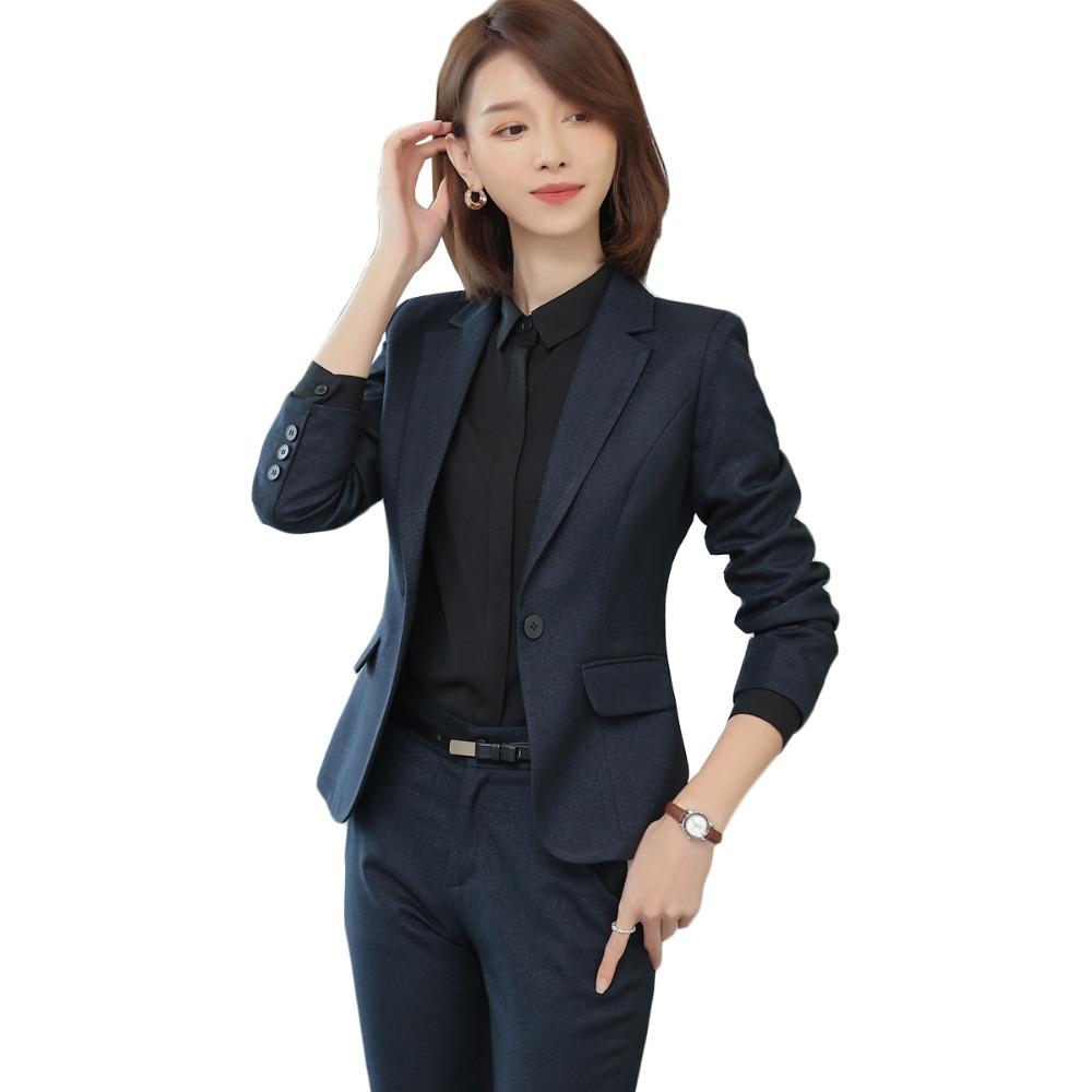 Back To Search Resultswomen's Clothing 2018 New High Quality Women Single Button Pant Suits Elegant Ol Office Lady Work Wear Luxury Business Suit Black Dark Blue Suits & Sets