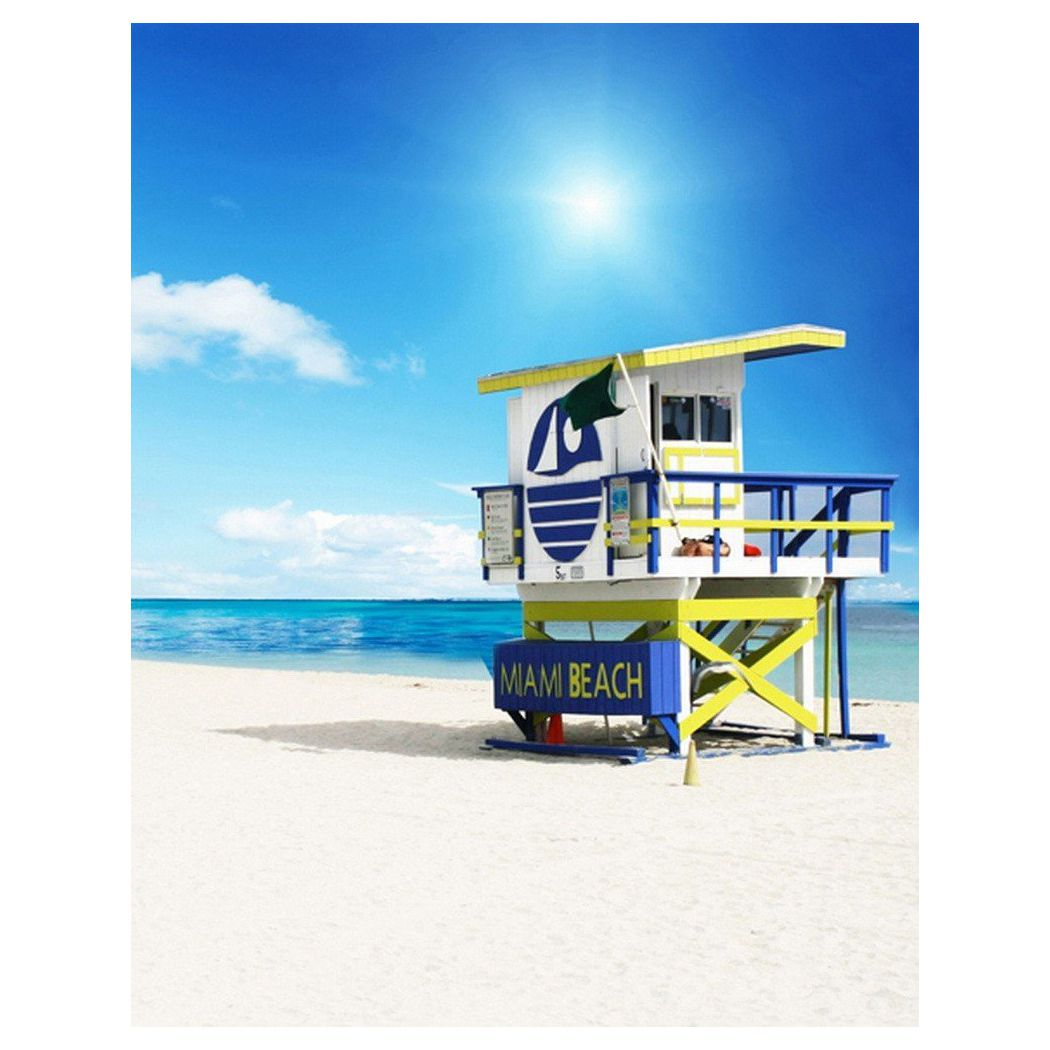 Top Deals 0.9x1.5m Computer Printed Fabric Vinyl Thin Photo Studio Props Photography Backdrops Blue Seaside Beach Sky Clouds T