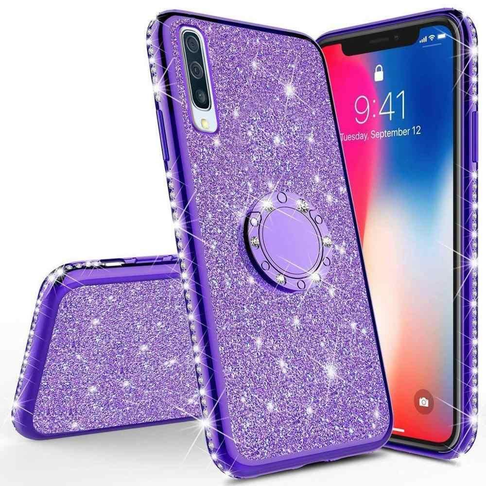 Cassa del diamante per Huawei Honor 20 Pro Lite 8A 8C 10i Y6 Y5 P Smart Più P20 lite 2019 Copertura per Huawei Nova 5 5i Pro Caso di Scintillio