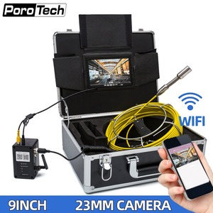"""Image 1 - WP90A 9"""" Wireless WiFi 20M Pipe Inspection Video Camera,Drain Sewer Pipeline Industrial Endoscope support Android/IOS"""