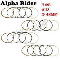 4 Sets Motorcycle Engine Parts Piston Rings STD Bore Size 48mm For Yamaha FZR250 FZR250RR FZR