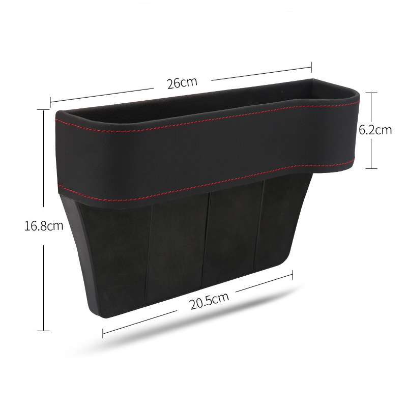 Image 3 - Tefanball Car Seat Crevice Storage Box Grain Organizer Gap Slit filler Holder Wallet Phone Coins Cigarette Pocket Accessories-in Stowing Tidying from Automobiles & Motorcycles