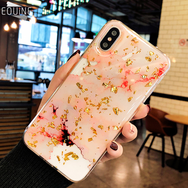 best authentic 09eff cf3dc US $2.81 15% OFF|Eouine Luxury Gold Foil Bling For iPhone 8 Plus Marble  Phone Cases Soft TPU Cover For iPhone 7 8 6 6s Plus Glitter Case Coque-in  ...