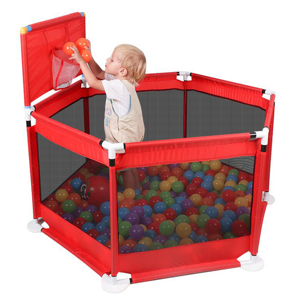 Portable Baby Fence Kids Playpen Ball Pool Safe Barrier for Bed 0-6 Years <font><b>Children's</b></font> Playpen Oxford Cloth Pool Balls Child Fence image