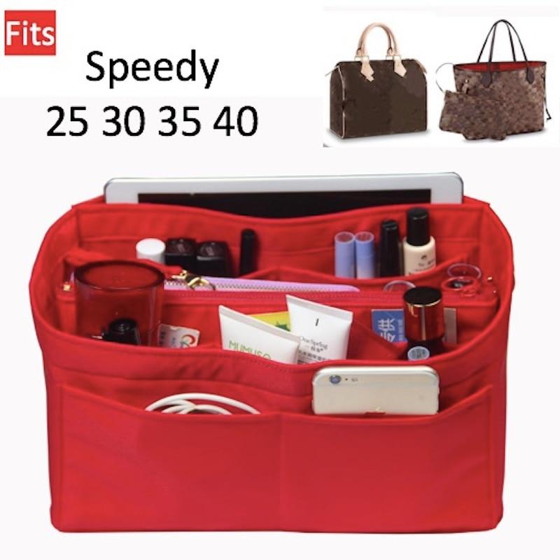 Speedy 25 30 35 40Neverfull Purse Organizer waterproof Oxford Cloth Handbag Organizer Bag In Bag Tote (w/Detachable Zip Pocket) Cosmetic Bags & Cases     - title=