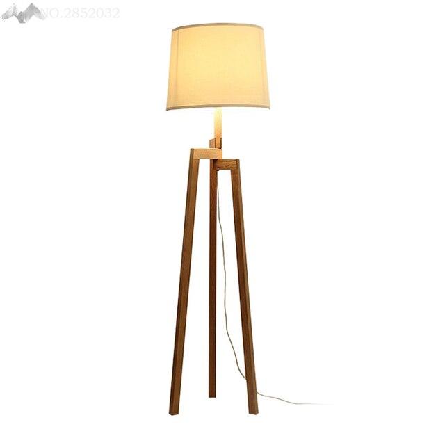 JW Modern European Style Solid Wood Floor Lamp Tripod Wooden ...