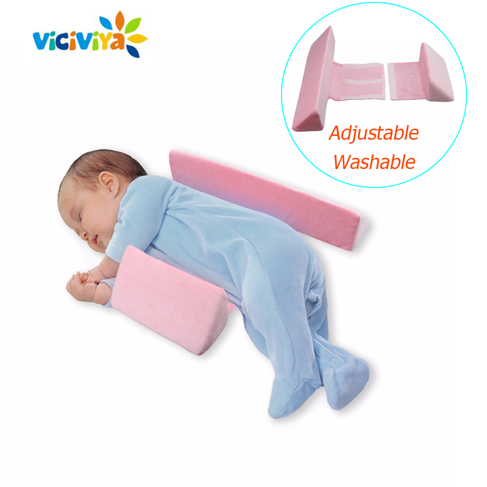 Anti Roll Pillow Newborn Baby Pillow Infant Adjustable Sleep Positioner Pillow Anti Flat Head Cotton Baby Positioning Pad