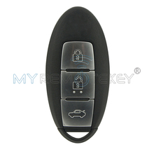 Smart Car key 3 Button 433.92 Mhz 47 chip for Nissan Teana 2013 2014 2015 Keyless Entry Key Replacement Remtekey