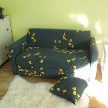 Желтые листья охлаждения полный диван крышка реактивной печатных полиэстер/спандекс стрейч диван обложки чехол универсальный для 1-4 местный