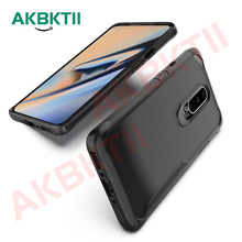 AKBKTII Shockproof Transparent Capa One plus 6T Case Oneplus 7 Cover Hard PC Panel +TPU Bumper Armor Funda For 6