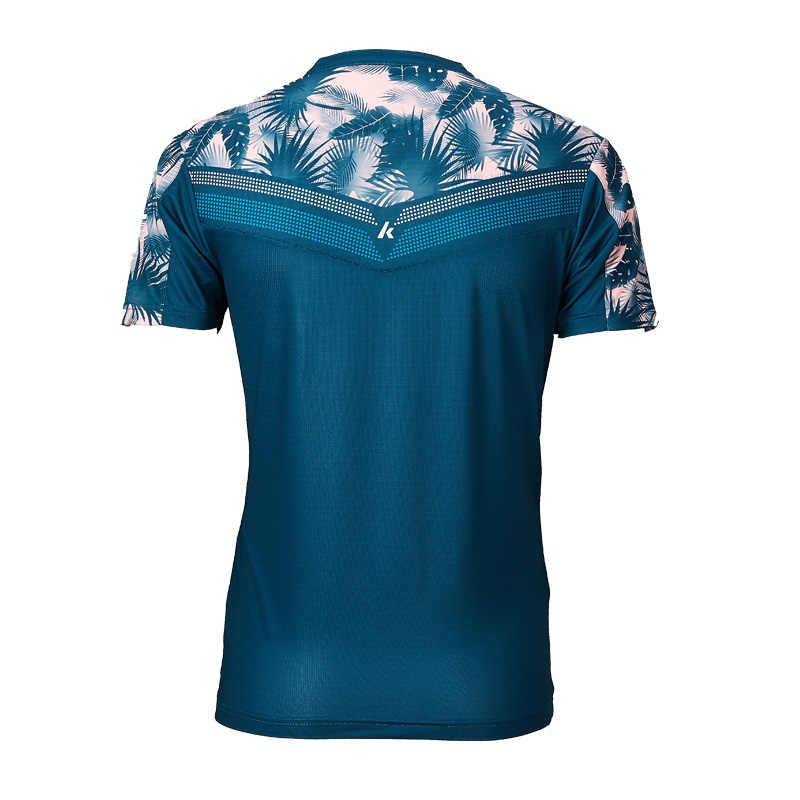 Оригинальная теннисная рубашка Kawasaki ST-S1110 футболка для бадминтона мужские быстросохнущие футболки для тренировок с коротким рукавом Мужская спортивная одежда 2019