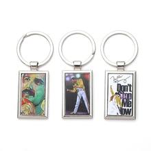 DMLSKY Freddie Mercury Metal Alloy Pendant Key Chains Ring Keyrings Cool Keychain keys holder Jewelry M3326 цена в Москве и Питере
