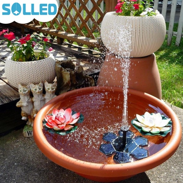 Solled Solar Battery Fountain Pump Water Floating Pumps For Garden Pool Outdoor Underwater Decoration