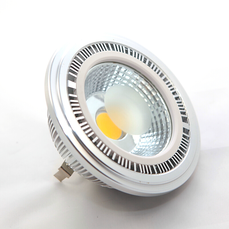 Dimmable AR111 <font><b>LED</b></font> Downlight <font><b>15W</b></font> COB Warm White G53 GU10 AC110V <font><b>220V</b></font> DC12V <font><b>LED</b></font> Spotlight CE&RoHS for Home Stores Lighting YRANK image