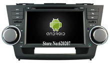 S160 Android 4.4.4 CAR DVD player FOR TOYOTA HIGHLANDER 2008 car audio stereo Multimedia GPS Quad-Core