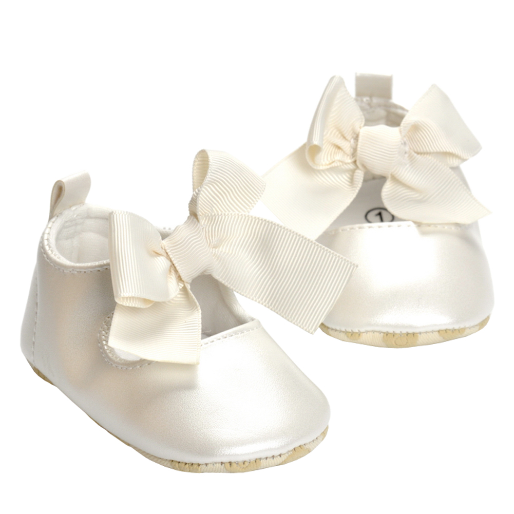 Купить с кэшбэком Shoes for Girls Mary Jane Flats Shoes Kid Newborn Infant Toddler Crib Shoes Cute Bow Bebes Casual Loafers Princess Shoe Footwear