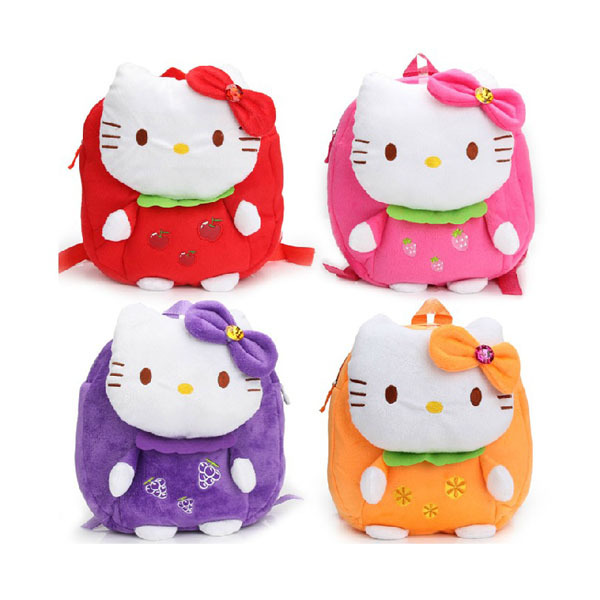 Cute Cartoon Hello Kitty Plush Backpacks Kids Bags Girls Backpacks Shoulder  Bags Kindergarten Baby Girl Backpack-in Plush Backpacks from Toys   Hobbies  on ... 6c5a30b0bcc8d