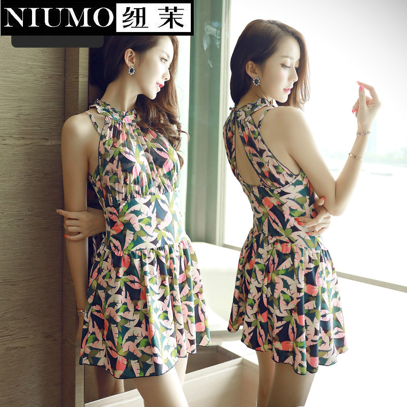 NIUMO New Swimming suit woman student Small chest Gather Sexy Skirt type one-piece swimsuit Large size swimsuit Swim Hot springs niumo new one piece swimsuit woman skirt type small chest gather hot springs student swimsuit beach swim swimwear