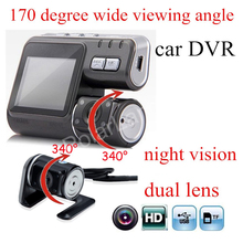 "Cheaper Dual Camera 2.0"" TFT DVR Full HD 1080P Dual Lens Dash Cam Video Recorder 2 Camera Night Vision Car DVR Camcorder"