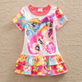 New ma bao li girl summer dress printing short-sleeved cotton children dress clothes round collar sweet cake free shipping SD668