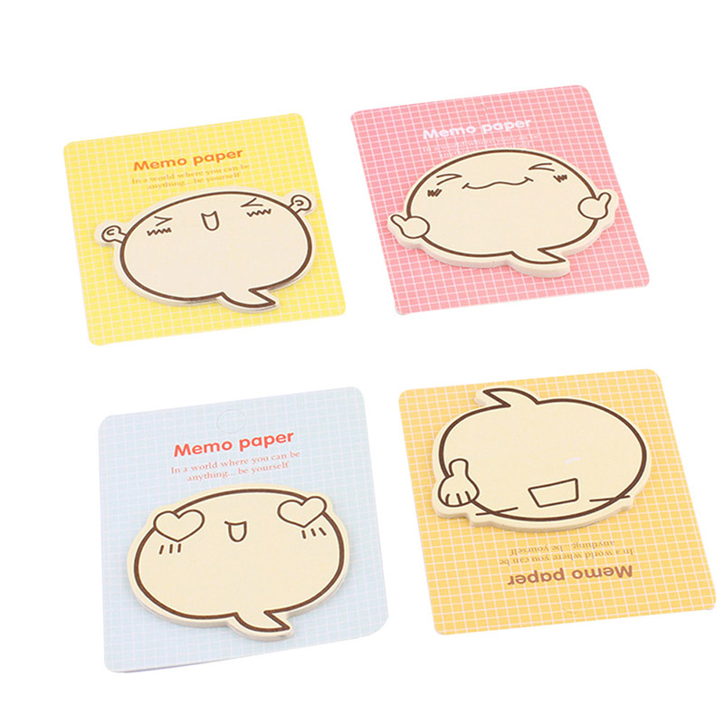 3pc /set Creative Cartoon Inspirational Expression N Times Memo Pad Posted Lovely Sticky Notes Stationery Random Style