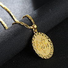 2019 Fashion Irish Necklace Alloy Angel Pendant Necklace Gold silver Colors Chain Hip Hop Necklace for Women Men Jewelry gift(China)