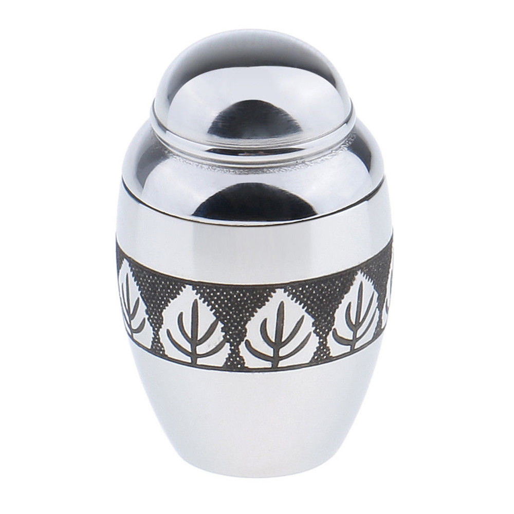 Mini Stainless Steel Pet Urn Keepsake Cremation Miniature Funeral Box Pet Ash Holder For Pet Dog Cat Ashes Funeral Urn