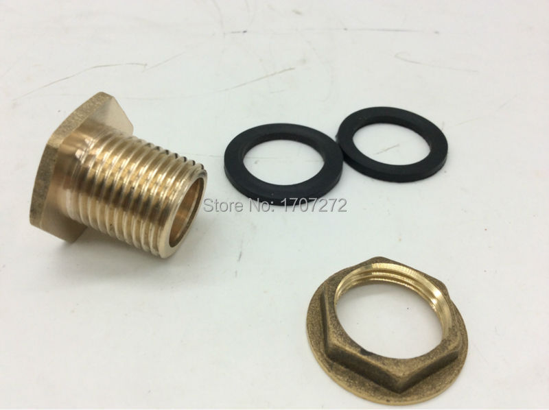 Free shipping quot bsp brass pipe swivel fitting nut water