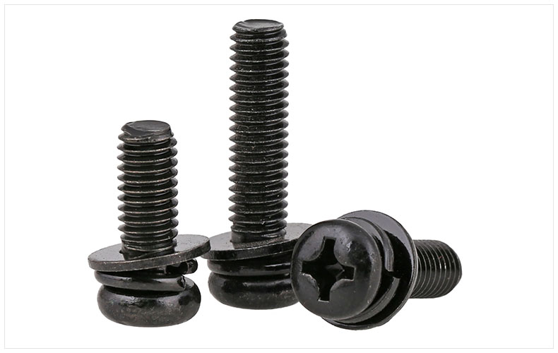 GB9074.8 carbon steel 12.9 round head screws black M2 M2.6 M3 M4 M5 M6 screws three combination screws zinc screw free shipping iso7380 304 stainless steel round head screw m3 m4 m5 m6 screws hex socket screw three combination 2018 hot