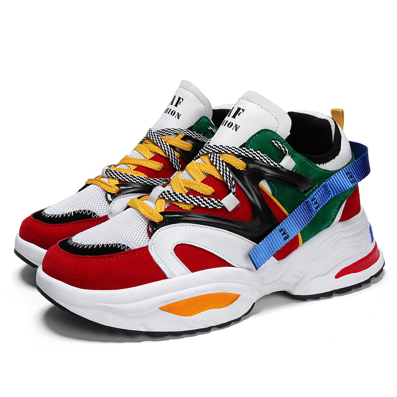 2019 Harajuku Autumn Vintage Sneakers Men Breathable Mesh Casual Shoes Men Comfortable Fashion Sneakers Non slip Wear Men Shoes in Men 39 s Casual Shoes from Shoes