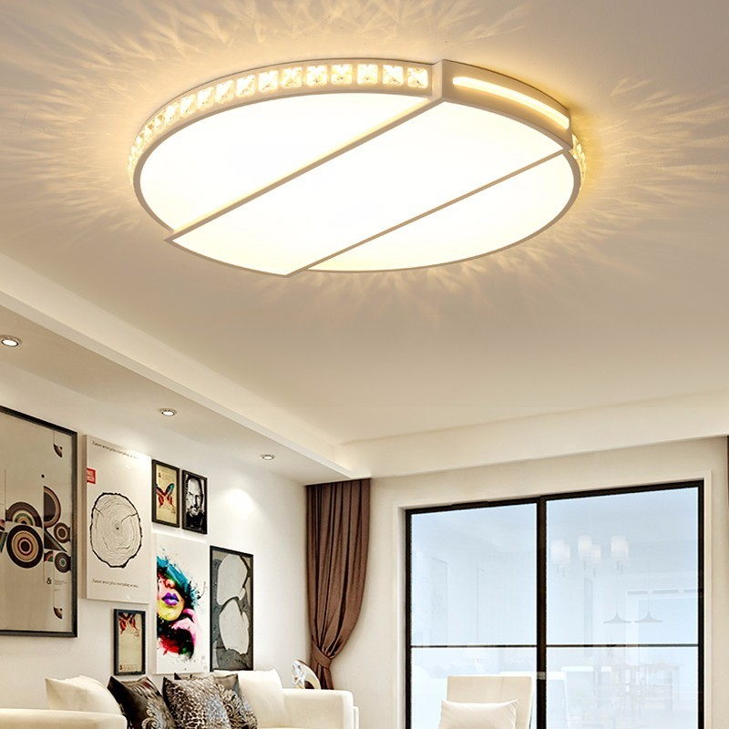 New Arrival Modern led Chandelier For Living Room Bedroom Study Room Round Ceiling Crystal Chandelier lighting Fixtures 85-265V