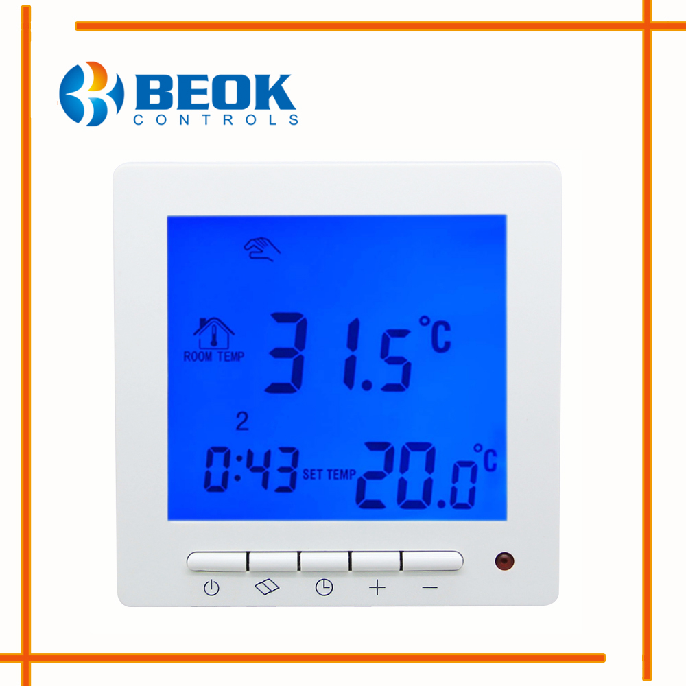 Beok Room Digital Thermostat For Warm Floor Heating Electric Weekly Mm 2 58t Wiring Diagram Tol63r Ep Sytem Temperature Regulator Programmable Controls