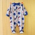 O envio gratuito de Alta qualidade crianças pijamas com pés cobrir bodysuits do bebê manga longa desgaste dorminhoco do bebê