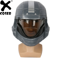 XCOSER Halo3 Helmet Cosplay Props Full Head Helmet Cool Full Face Masks Halloween Party Cosplay Helmets Costume Accessories