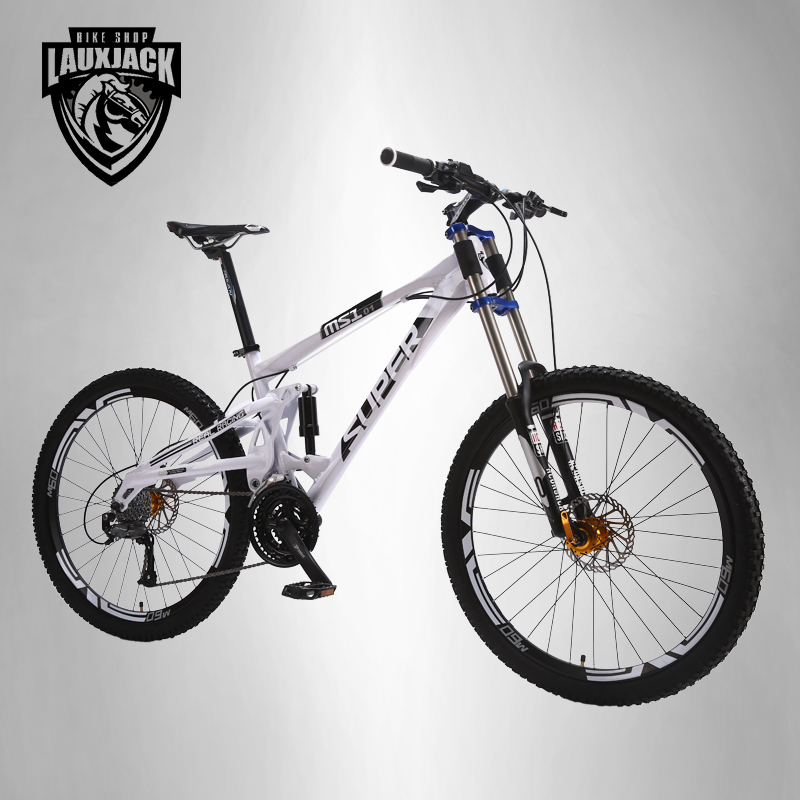 SUPER Mountain bike double-sided aluminum frame 24/27 speed hydraulic / mechanical disc  ...