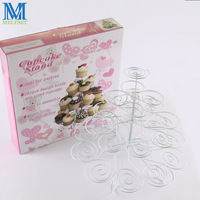 23 Cups European Style Multifunction Christmas Tree Shape Birthday Party Cupcake Stand Iron 4 Tier Cake